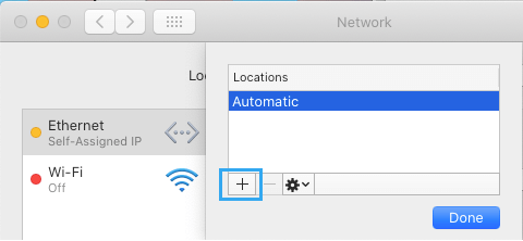 Add Network Location Option on Mac