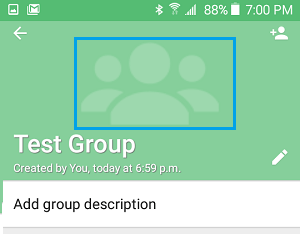Upload WhatsApp Group Icon