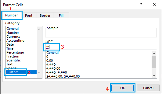 Hide Cells Having Zeros Using Excel Cell Formatting