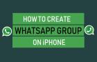 Create WhatsApp Group on iPhone