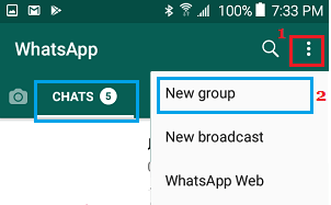 Create New WhatsApp Group