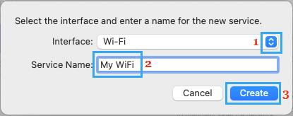 Create WiFi Network on Mac