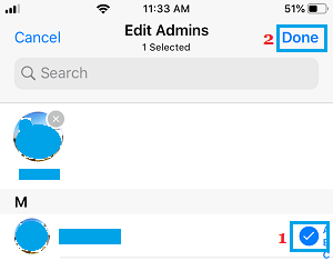 Designate WhatsApp Group Admins on iPhone