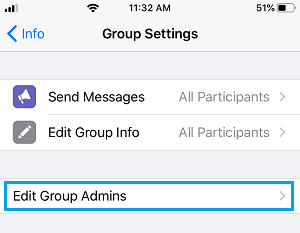 Edit Group Admins Option in WhatsApp