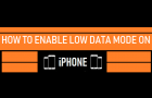 Enable Low Data Mode on iPhone
