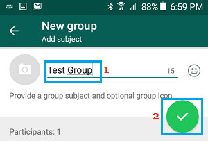 Name WhatsApp Group on Android Phone