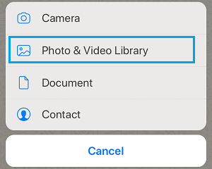 Open WhatsApp Photo & Video Library