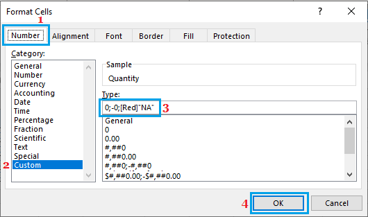 Replace Zeros with Text in Excel