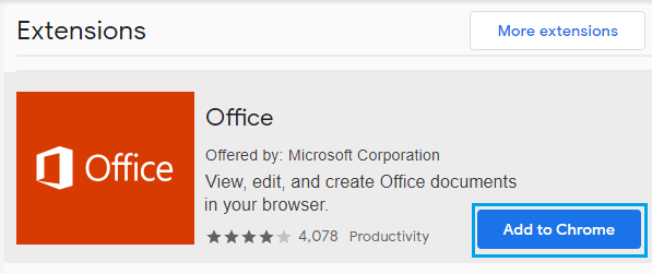 Download Microsoft Office Online Extension