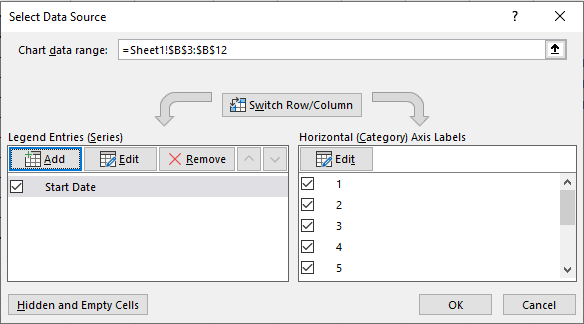 Add Option in Excel Charts Select Data Source Dialogue Box