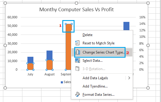 Change Data Series Option in Excel Charts