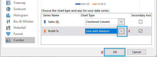 Change Chart Type Option in Excel