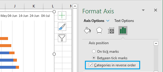 Set Categories in Reverse Order Option in Excel Bar Charts