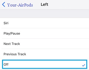 Turn OFF AirPods on Double Tap