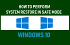 Perform System Restore in Safe Mode Windows 10