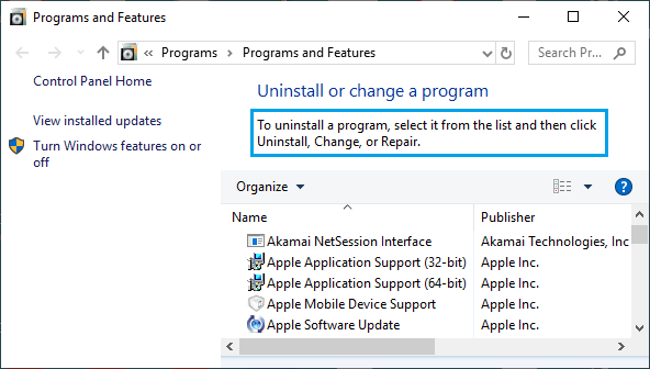 Uninstall Suspicious Programs in Windows