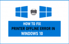 Fix Printer Offline Error in Windows 10