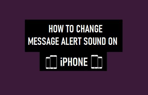 Change Message Alert Sound on iPhone
