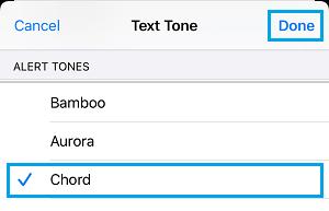 Set Message Alert Tone on iPhone