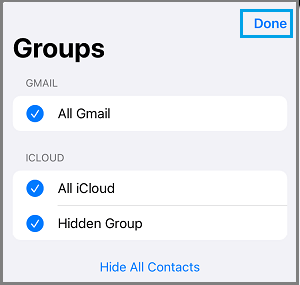 Show All Contacts on iPhone