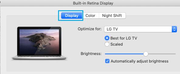 Optimize Mac Display on Mac