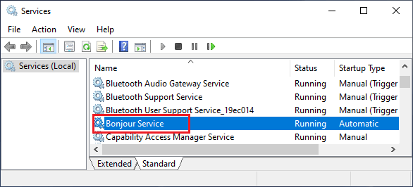 BonJour Service in Windows