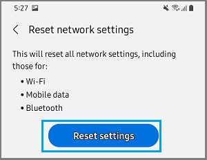 Reset Network Settings on Android Phone