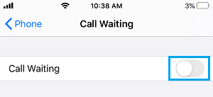 Switch OFF Call Waiting on iPhone