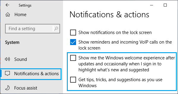 Disable Microsoft Notifications