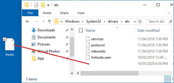 Copy Hosts File to etc Folder