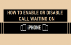 Enable or Disable Call Waiting on iPhone