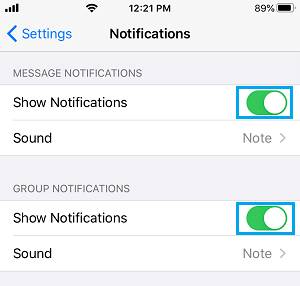 Enable WhatsApp Message And Group Notifications