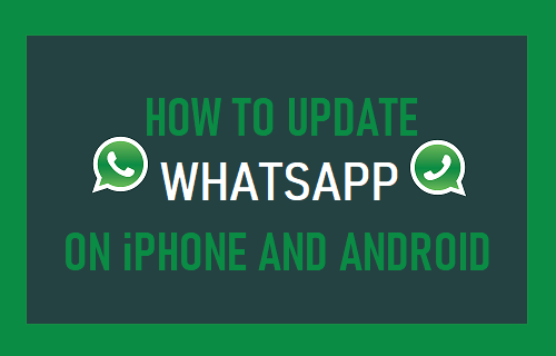 Update WhatsApp on iPhone and Android