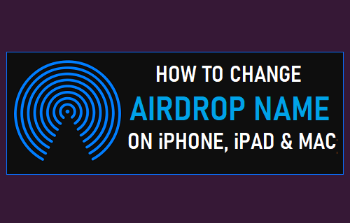 Change AirDrop Name on iPhone, iPad and Mac