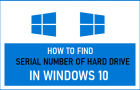 Find Serial Number of Hard Drive in Windows 10