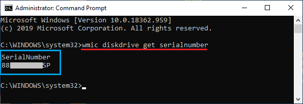 Find Hard Disk Serial Number Using Command Prompt