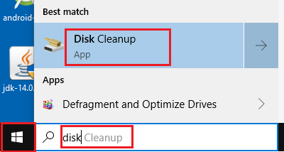 Open Disk Cleanup App
