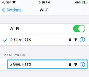 Connect iPhone to 5G Network