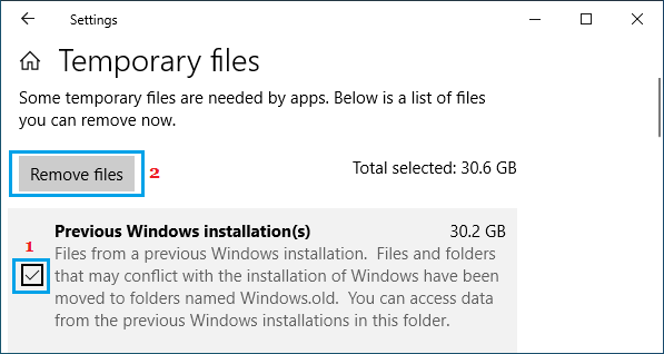 Remove Previous Windows Installation Files