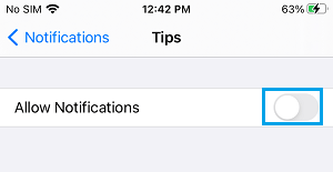 Disable App Notifications