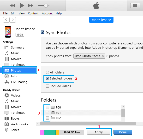 Remove Synced Photos on Mac Using iTunes