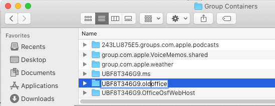 Rename UBF8T346G9.office Folder on Mac