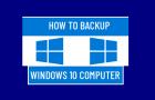 Backup Windows 10 Computer