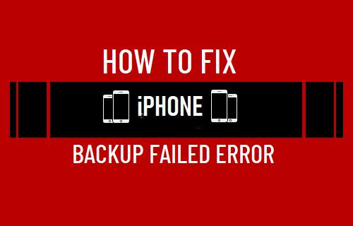 Fix iPhone Backup Failed Error