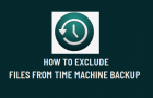 Exclude Files from Time Machine Backup
