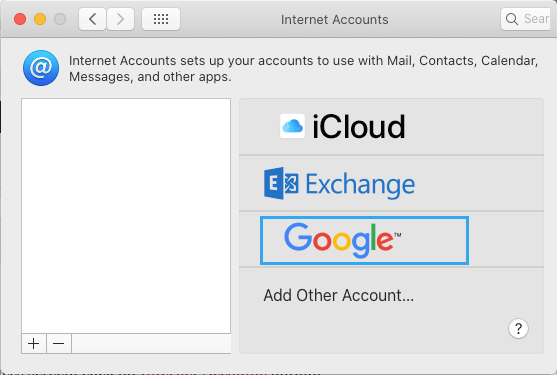 Select Email Account Provider