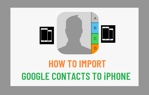 Import Google Contacts to iPhone