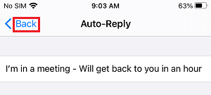 Change Do Not Disturb Auto-Reply on iPhone