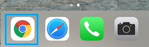 Chrome Icon in iPhone Dock