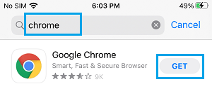 Download Google Chrome on iPhone